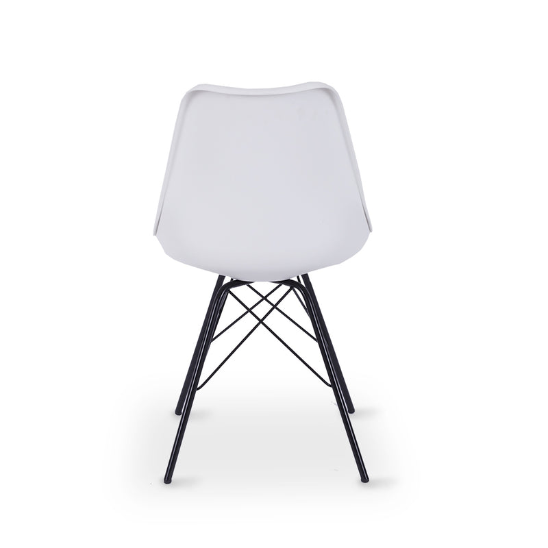 Rake Dining Chair - White - Furniture and Homewares Upper Hutt