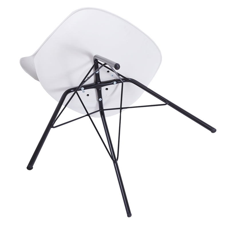 Rake Dining Chair - White