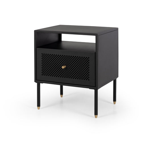 Dawn Beside 1 Drawer - Black