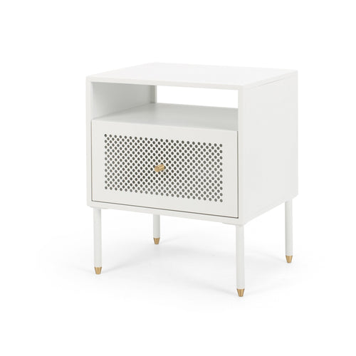 Dawn Beside 1 Drawer - White