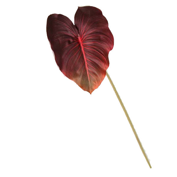 Faux Calla Leaf Burgundy - Furniture and Homewares Upper Hutt