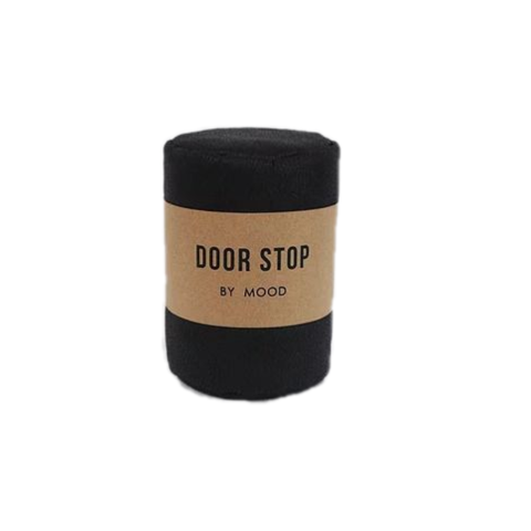 Door Stop - Black Leather - Furniture and Homewares Upper Hutt