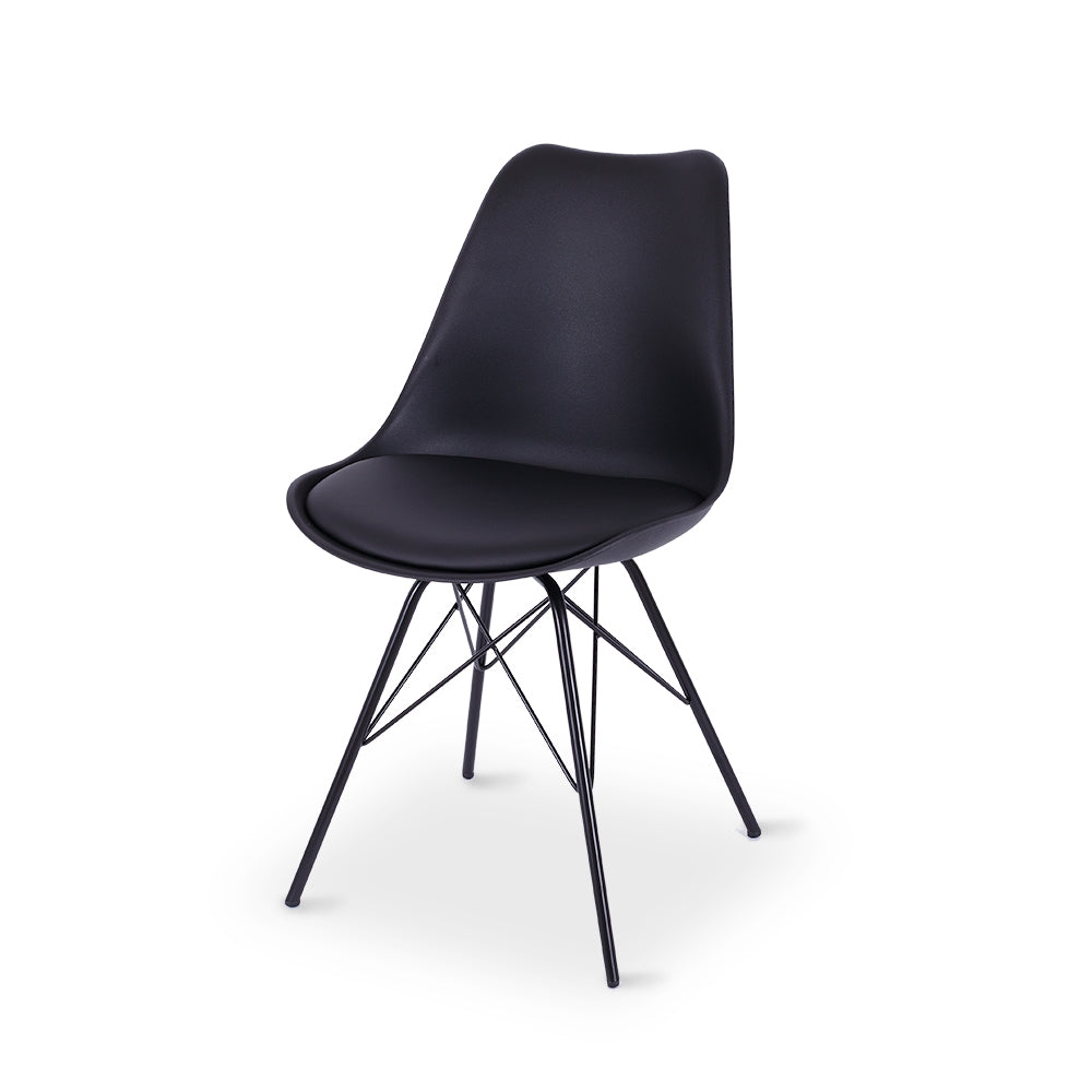 Rake Dining Chair - Black - Furniture and Homewares Upper Hutt