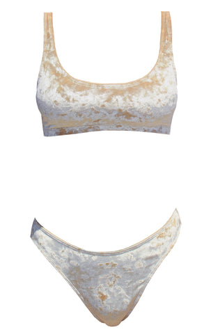 Gold Member Crushed Velvet Bikini