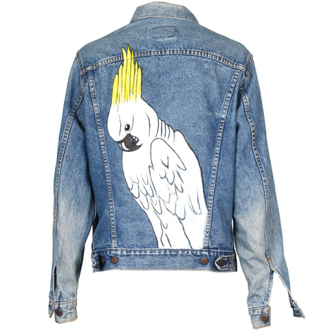 Cockatoo Hand Painted Denim Jacket