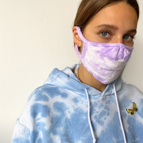 Lilac Clouds Reusable Mask