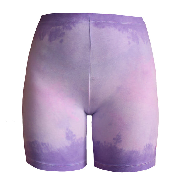 Clouds Lilac Bike Shorts