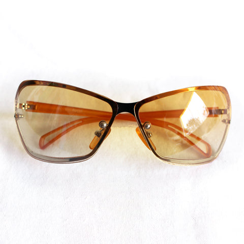 Y2K Frameless Orange Sunglasses