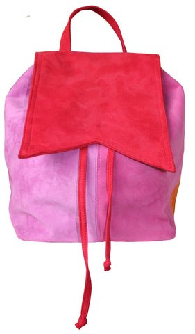 Mandy Coloured Suede Back Pack