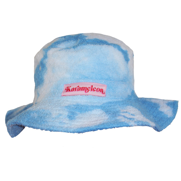 Clouds Blue Terry Towelling Bucket Hat