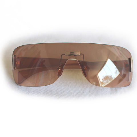 Y2K Frameless Brown Sunglasses
