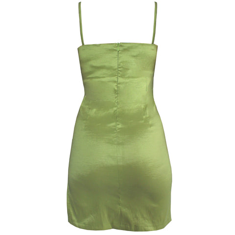 Splice Lime Mini Dress