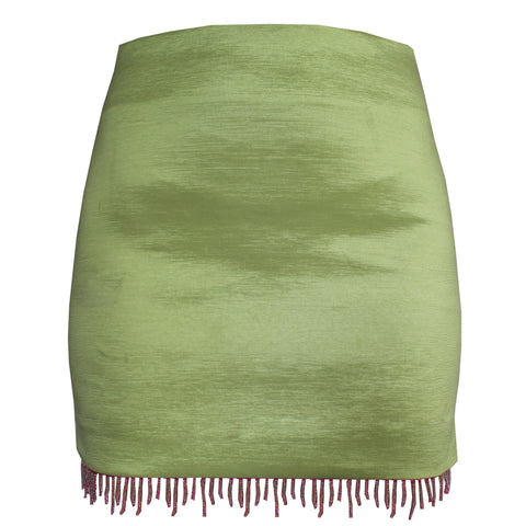 Splice Lime Mini Skirt