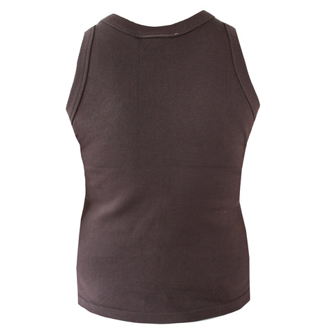 Disco Chocolate Brown Diamante Tank