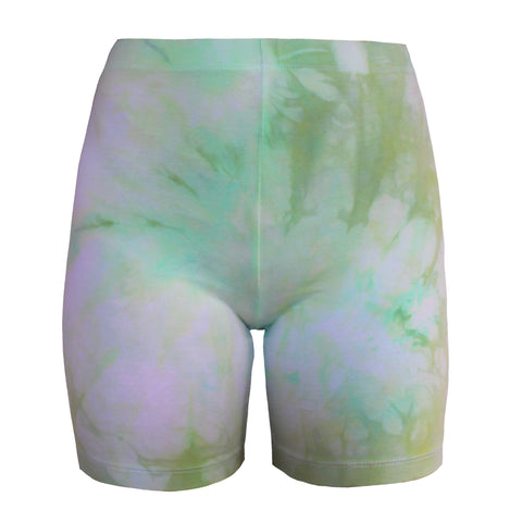 Clouds Seafoam Green Bike Shorts