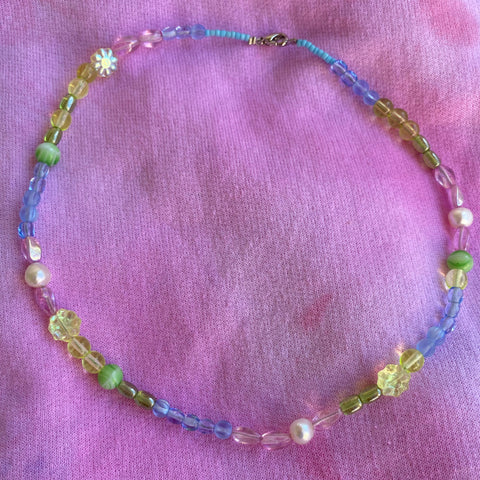 Handmade Pearl Pastel Beaded Necklace