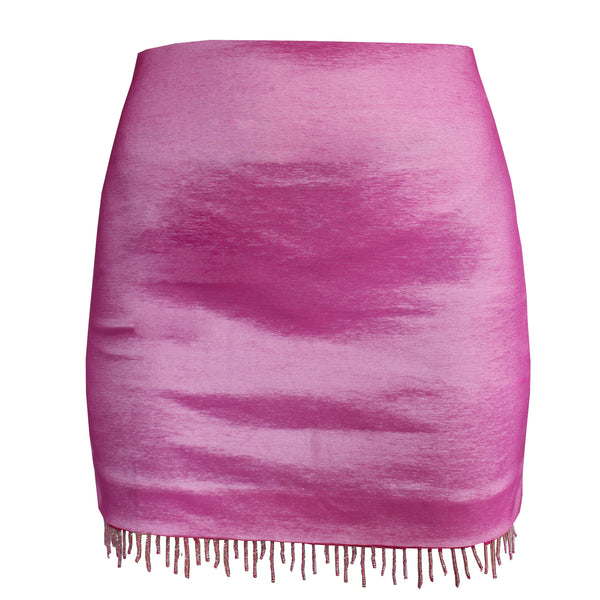Glow Fushcia Mini Skirt