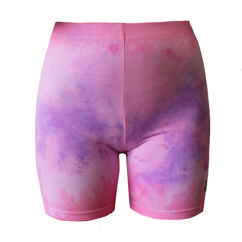 Clouds Pink Bike Shorts