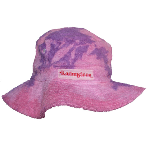 Clouds Pink Terry Toweling Bucket Hat