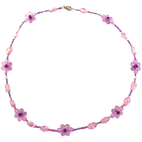 Handmade Purple Glass Beaded Necklace