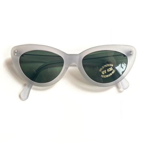 Vintage Matt Clear Cat Eye Sunglasses