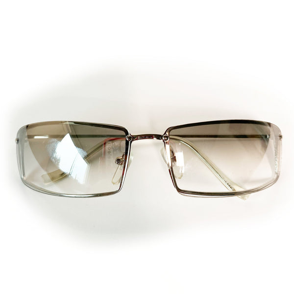 Vintage Y2K Frameless Clear Sunglasses