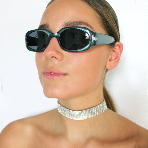 Vintage Metallic Smoke Sunglasses