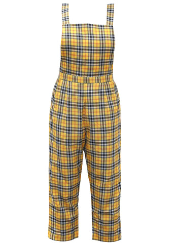 Grant High Yellow Tartin Overalls