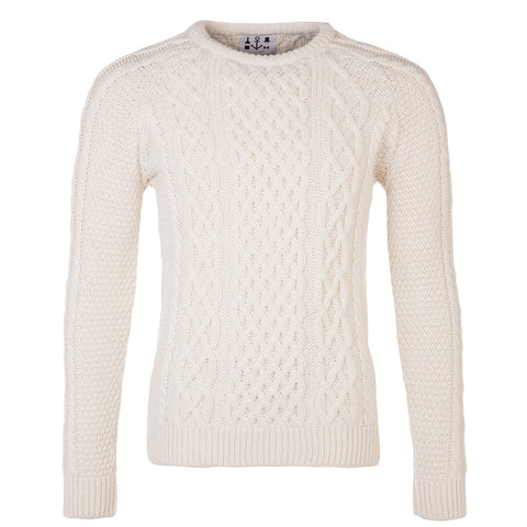 Irish Merino Aran Jumper - Polar Bear