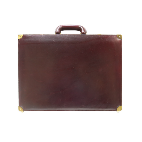 Vintage Briefcase - Oxblood and Brass II
