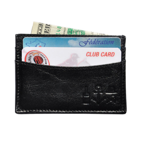 Waxed Calf Cardholder - Panther