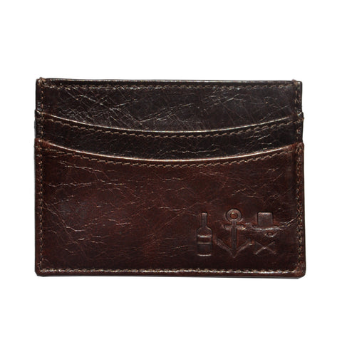Waxed Calf Cardholder - Eagle