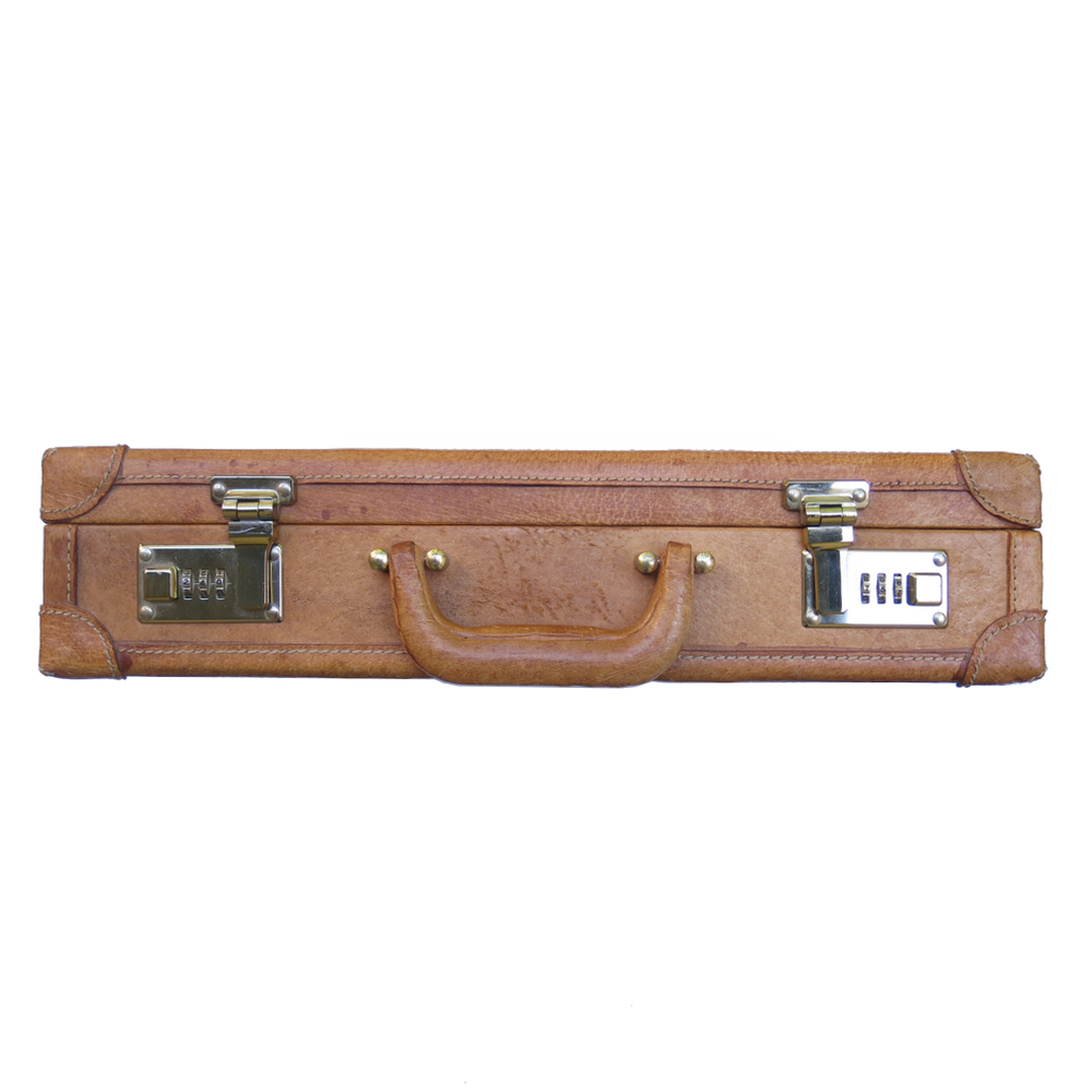 Vintage Briefcase - Cognac and Brass