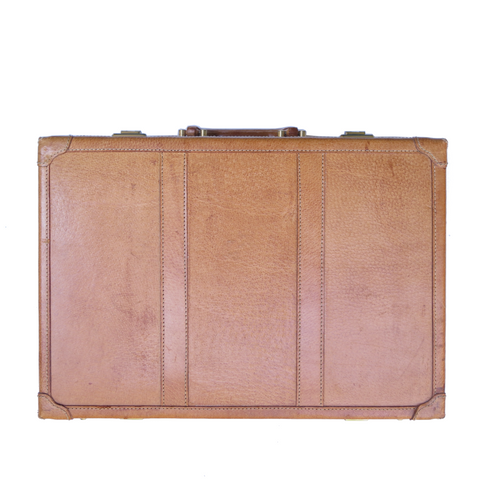 Vintage Briefcase - Blue and White