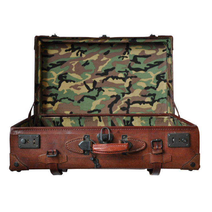 Vintage Suitcase - Camouflage