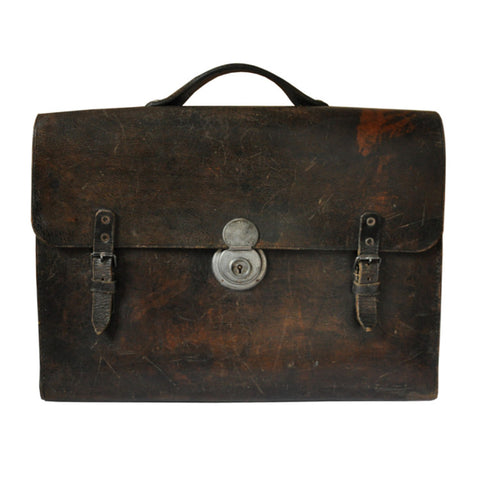 Vintage Briefcase - Black and Red