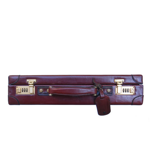 Vintage Briefcase - Oxblood and Brass