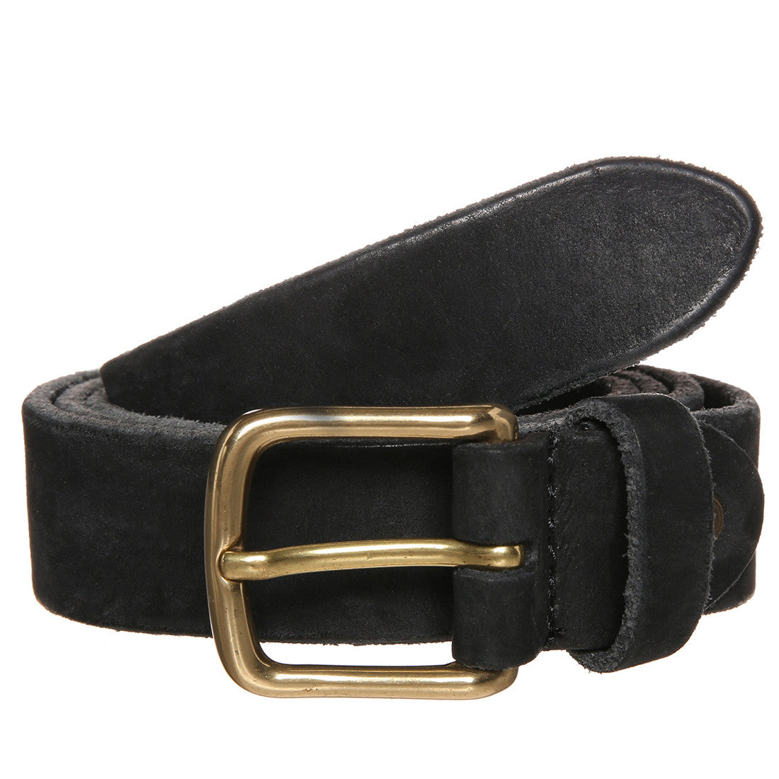 Washed Saddle Leather Belt - Panther
