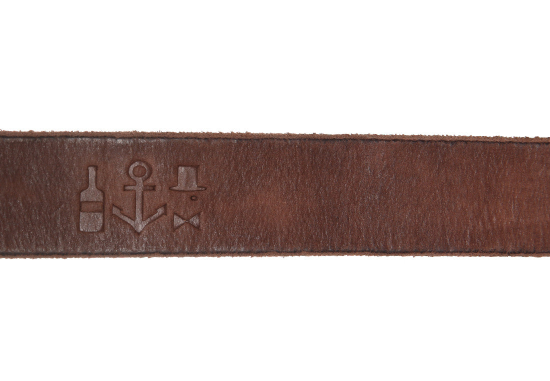 Washed Saddle Leather Belt - Eagle