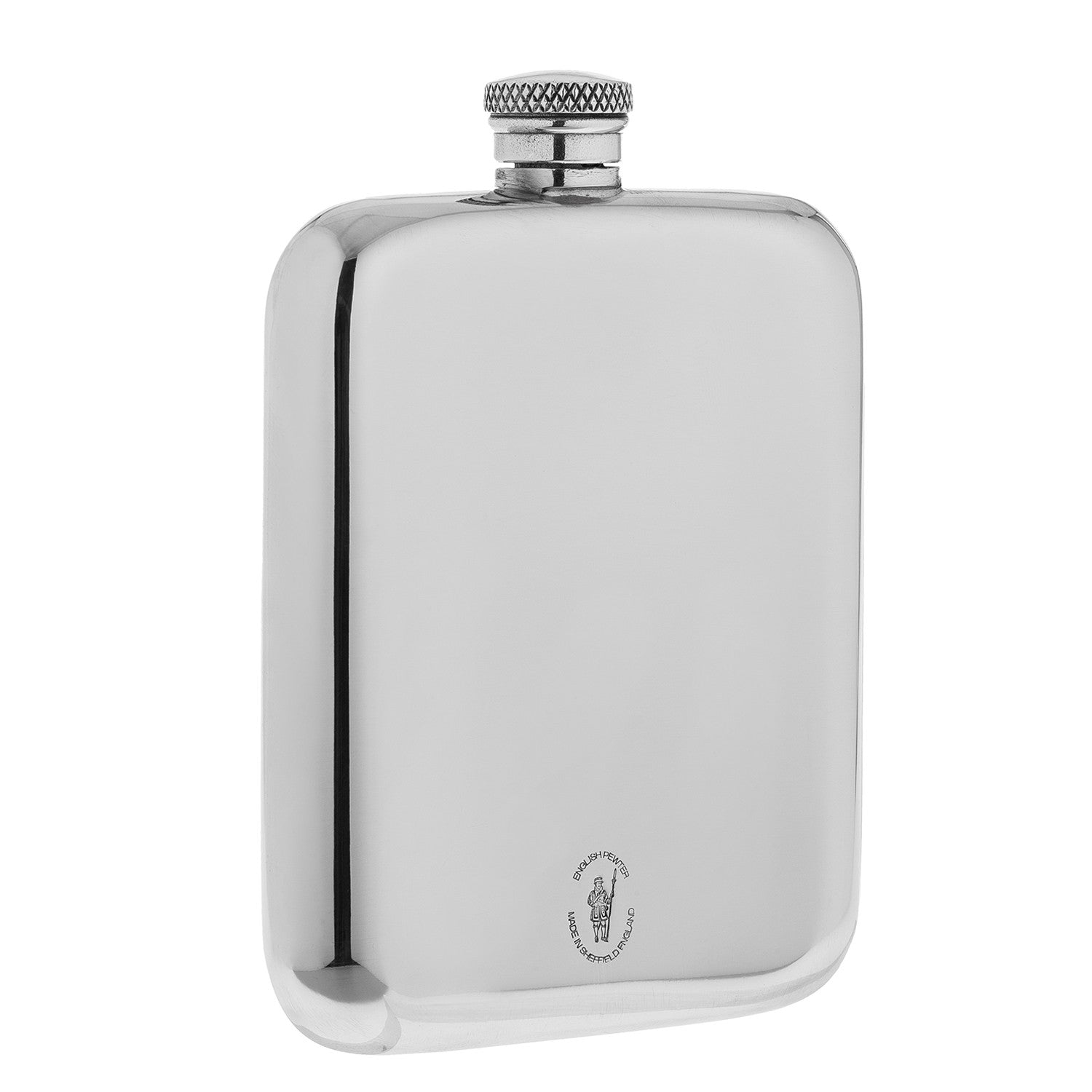 4 O'Clock Hip Flask - Pewter