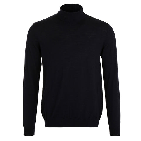 Merino Turtle Neck Jumper - Blue Marlin