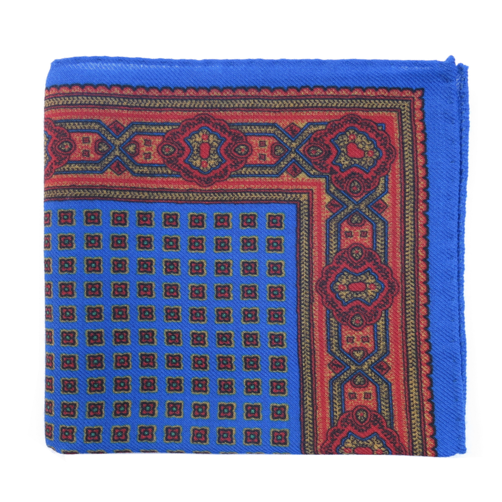 Pirate Style Pocket Square - Blue Marlin