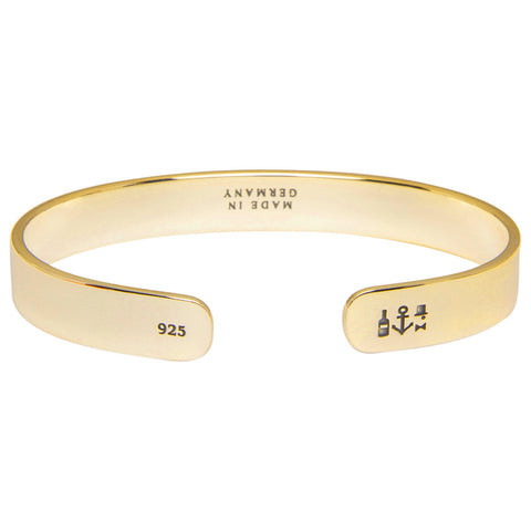 Gold Plated Bangle - 925/24K