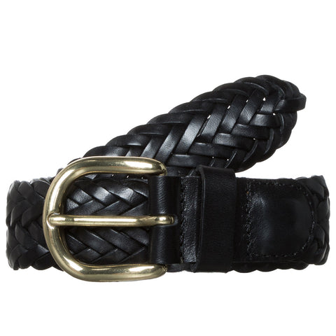 Woven Leather Belt - Panther