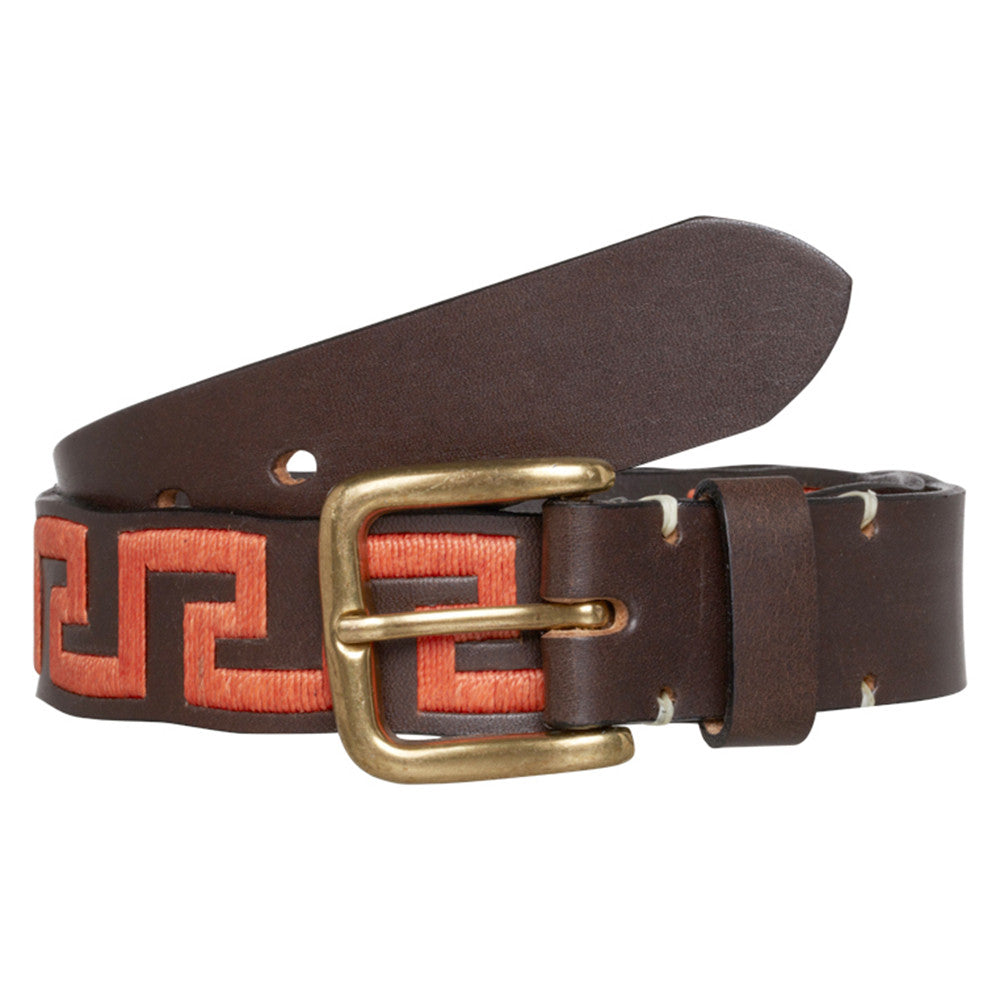 Gaucho Leather Belt - Gold Fish