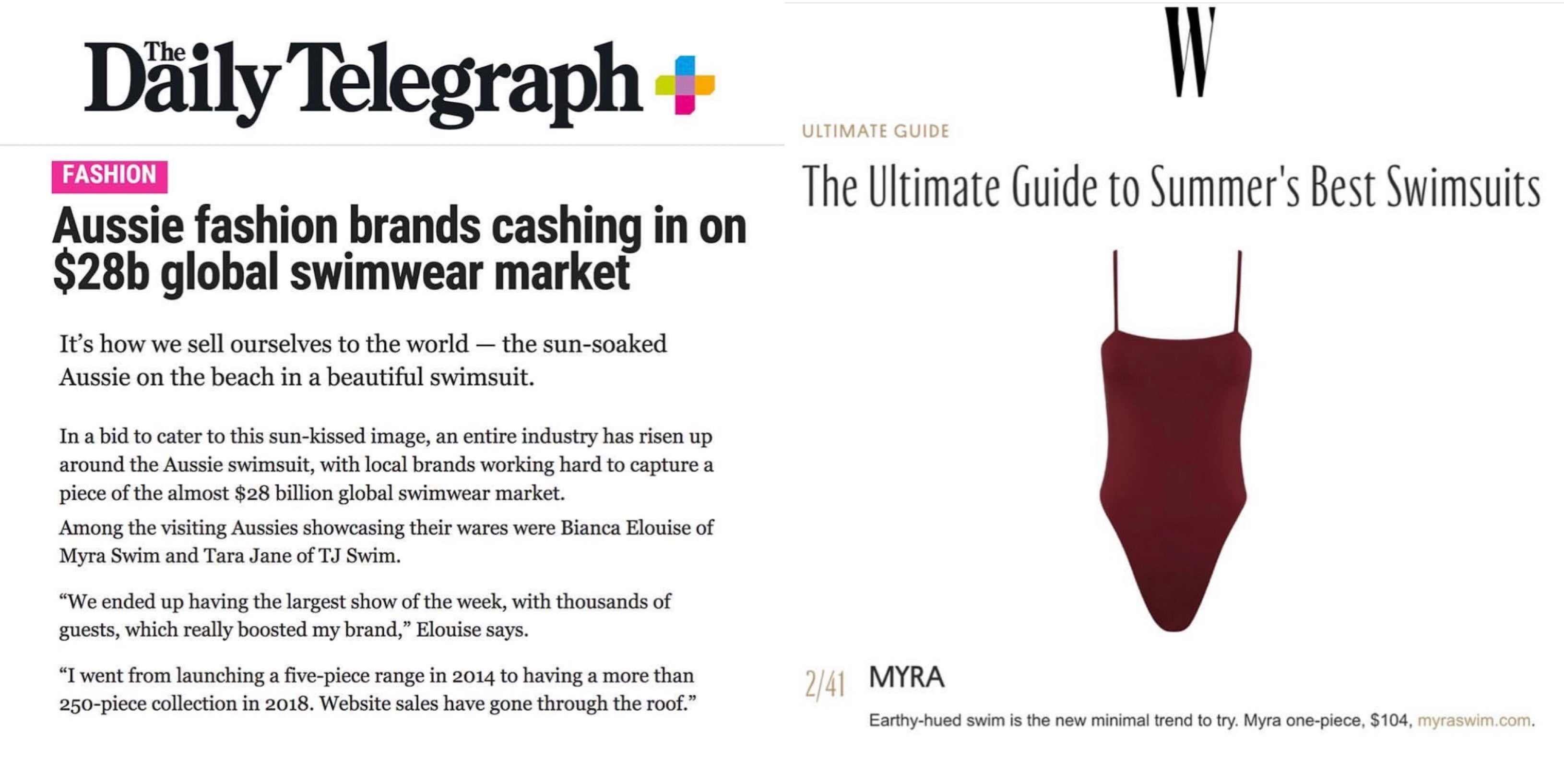 The Daily Telegraph swimsuit