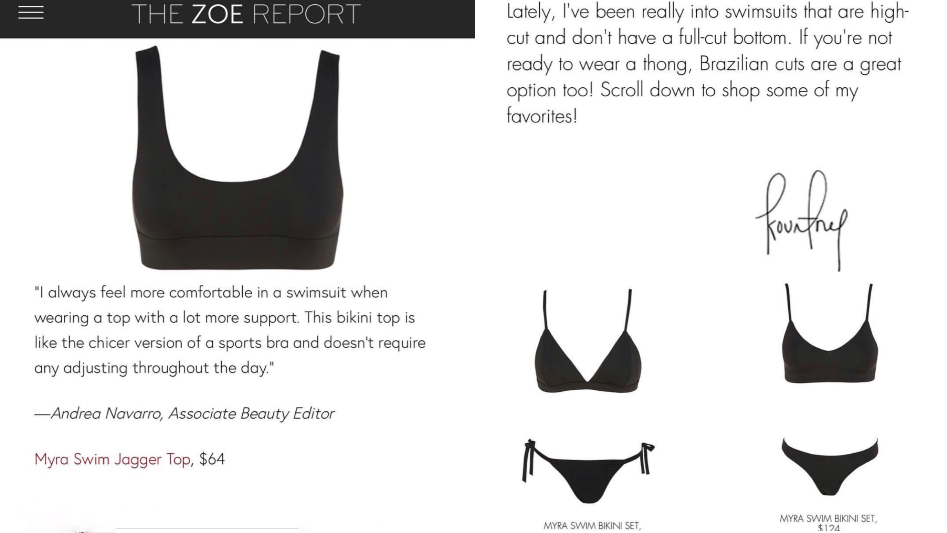 The Zoe Report bathing suits