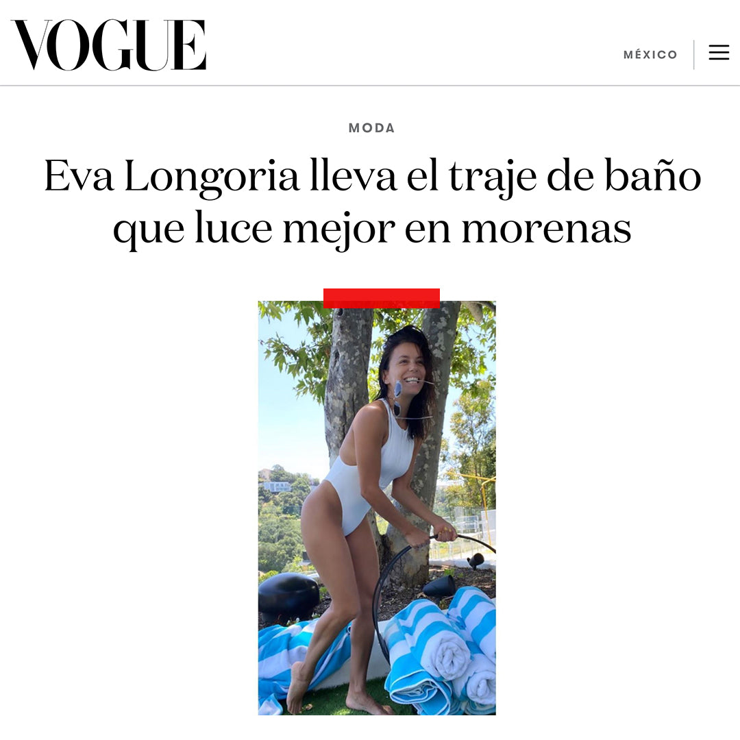 Eva Longoria Swimsuit | Vouge | Myra Swim Press