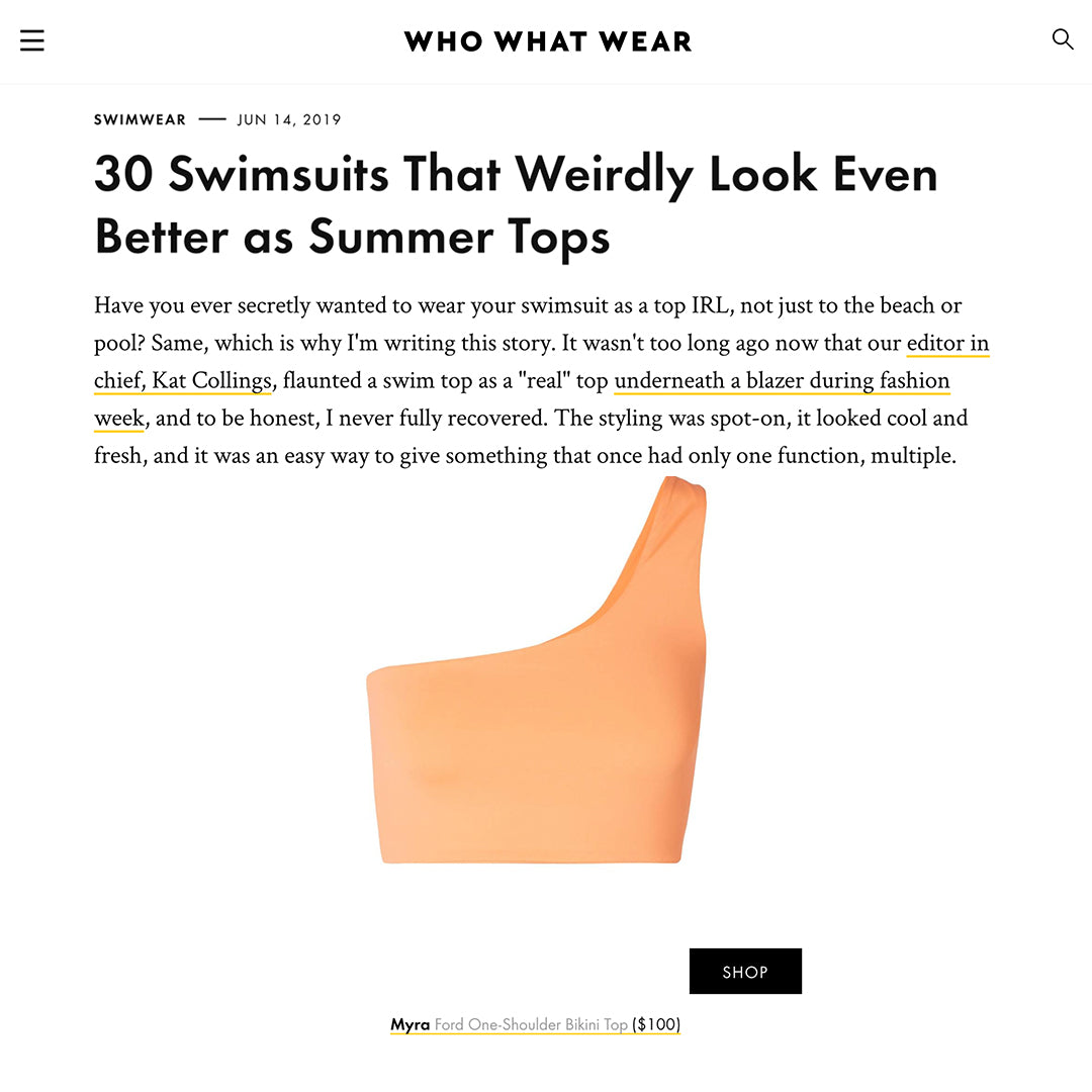 who what wear Celebrity Swimwear