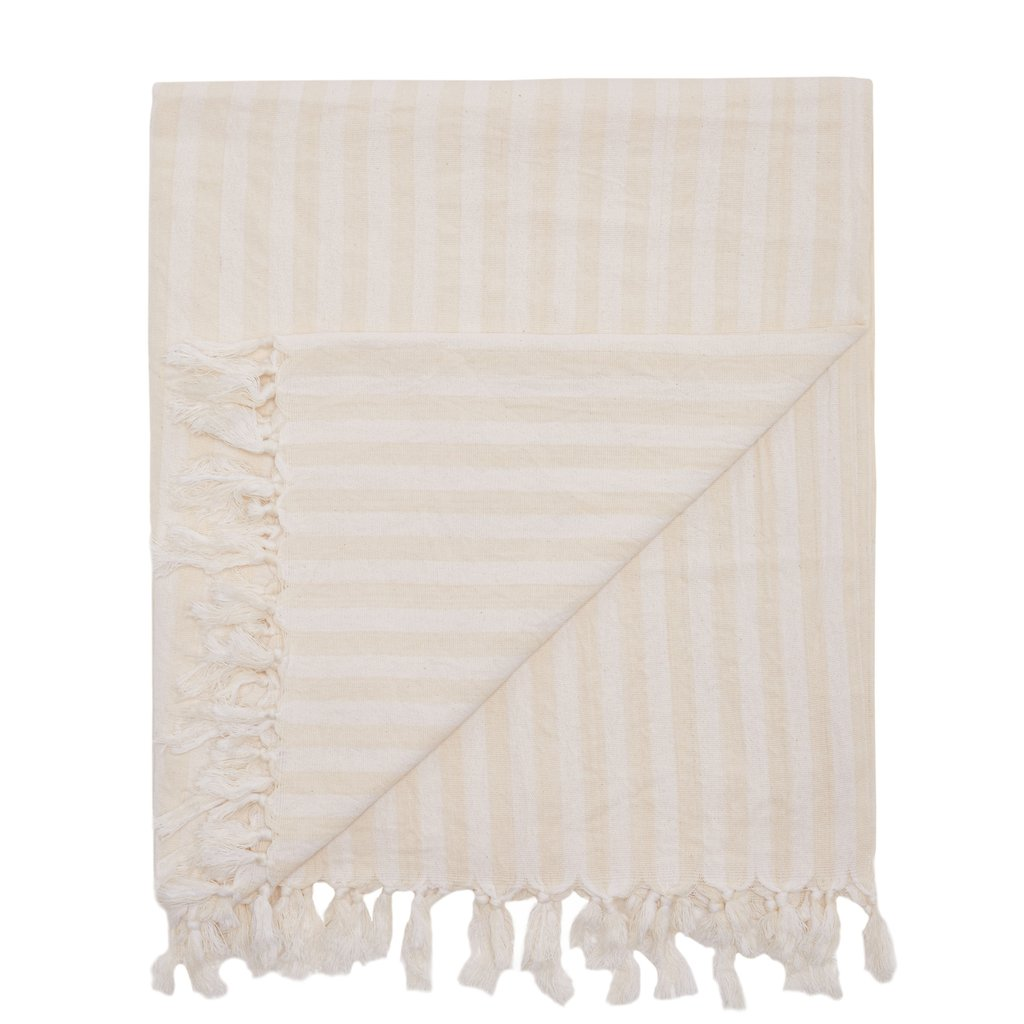 Mayde Palm Cove Towel - White